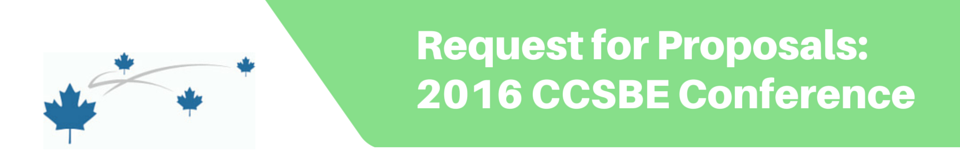 Request for Proposals: 2016 CCSBE Conference Host