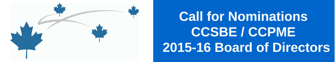 2015 CCSBE Call for Nominations to the Board of Directors